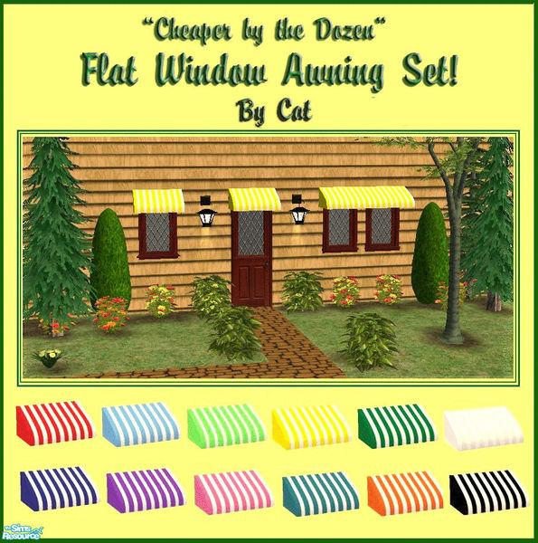 Cathee's Flat Window Awning Set