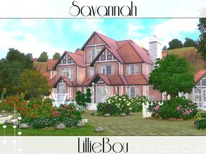 Sims 3 — Savannah by lilliebou — This house is for a family of about 7 sims. First floor: -Restroom -Art room -Living