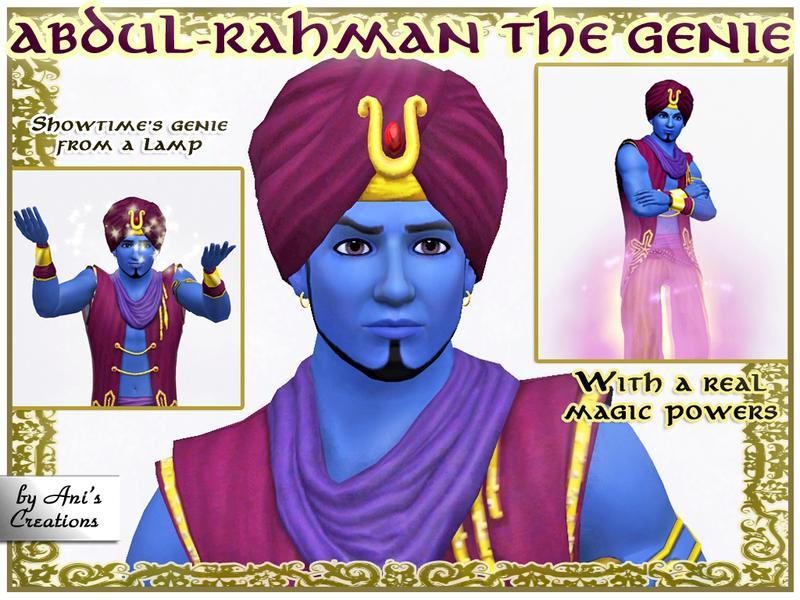 AniFlowersCreations' Abdul-Rahman the Magic Genie by Ani's Creations