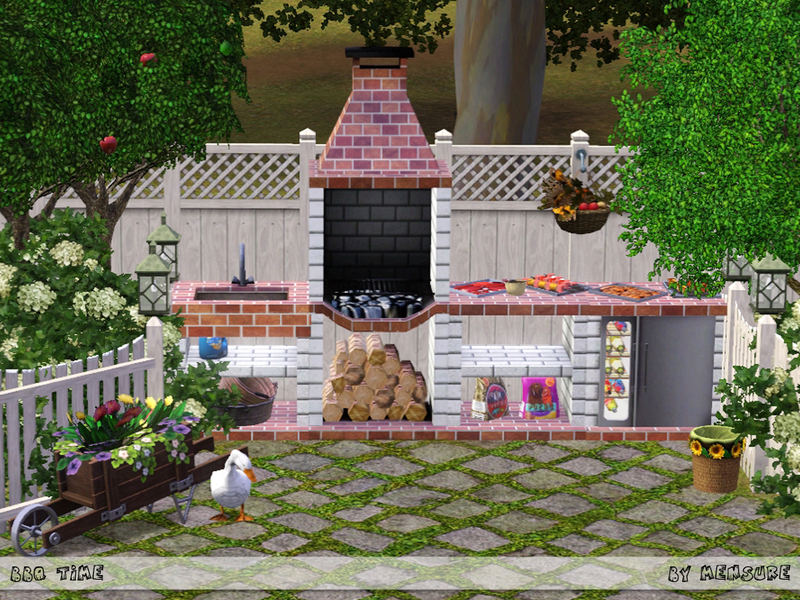 Mensure 39 s bbq time outdoor kitchen for Outdoor kitchen set