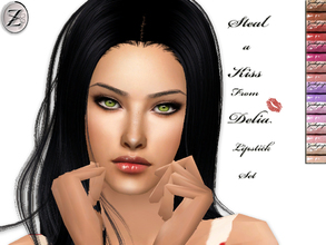Sims 2 — Steal a Kiss From Delia Lipstick Set by zodapop — Lipstick in 8 tempting shades.