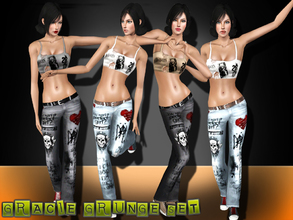 Sims 3 — Gracie Grunge Set by saliwa — Daily Grunge Stylish Set for your sims.