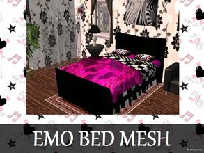 Sims 2 — Emo Bed Mesh by staceylynmay2 — New bed mesh for the emo, scene, punk and goth lovers. If you like the bed