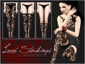 Sims 3 — Laced Stockings by Pralinesims — New laced stockings for your sims! You can find 2 laced dresses and gloves