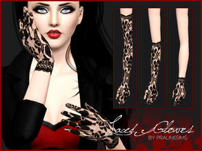 Sims 3 — Laced Gloves by Pralinesims — New laced gloves for your sims! You can find 2 laced dresses and stockings under