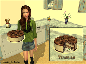 Sims 2 — Tiramisu by Santa_Fulmine — Tasty italian dessert - now for your simmies. You can cook tiramisu after you have