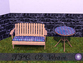 Sims 3 — D2DTPC02 Weave by D2Diamond — Texture Pattern Challenge 02 Collection, textures provided by Rennara, designs by
