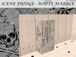 Sims 2 — Scene Fridge MESH - White Marble by staceylynmay2 — White marble fridge mesh.