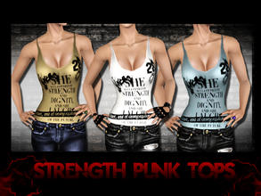 Sims 3 — Strength Punk Top  by saliwa — Strength Top from Saliwa