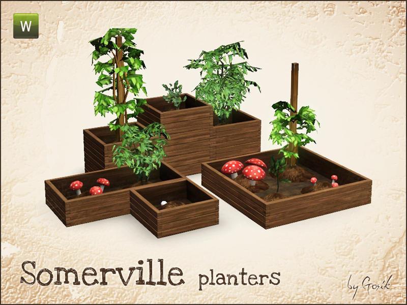 Gosik 39 s somerville planters for Indoor gardening sims 4