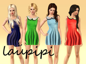 Sims 3 — Baby Doll Dress by laupipi2 — New recolorable dress Three recolorable channels Enjoy!
