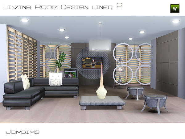 Jomsims 39 livingroom design liner 2 collection design liner for Living room ideas sims 3