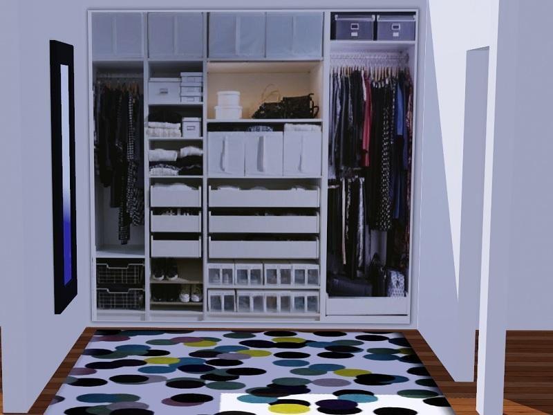 Clothes shelves bedroom