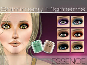 Sims 3 — Shimmery Pigments by simseviyo — New eyeshadow with 3 color palettes. Includes very beautiful crease effect and