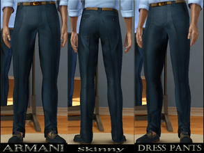 Sims 3 — Armani Dress Pants by terriecason — Finery at its best. Ages: Young Adult, Adult Gender: Male Clothing Category: