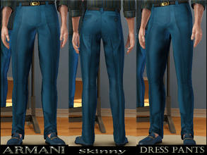 Sims 3 — Armani Dress Pants-Teen by terriecason — Finery at its best. Ages: Teen Gender: Male Clothing Category: