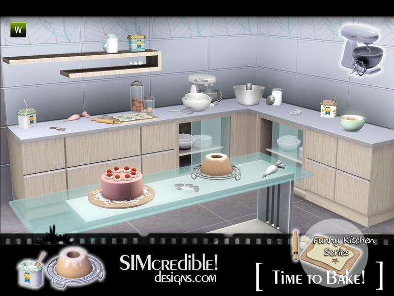 Simcredible 39 s funny kitchen time to bake for Funny kitchen set