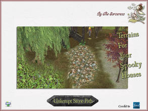 Sims 2 —  JJs Unkempt Stone Path by thesorceress — The 4th set of Terrainpaints to shape and landscapes your lots as you