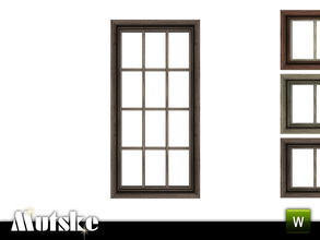Sims 3 — Victorian Window Middle Single 2x1 by Mutske — 4 recolorable parts. Made by Mutske@TSR. TSRAA.
