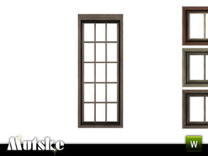 Sims 3 — Victorian Window Tall 1x1 by Mutske — 4 recolorable parts. Made by Mutske@TSR. TSRAA.