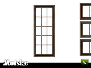 Sims 3 — Victorian Window Tall Single 2x1 by Mutske — 4 recolorable parts. Made by Mutske@TSR. TSRAA.