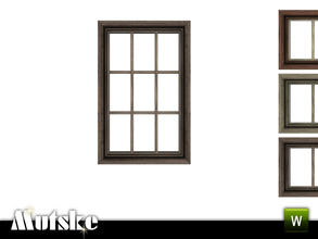 Sims 3 — Victorian Window Counter 1x1 by Mutske — 4 recolorable parts. Made by Mutske@TSR. TSRAA.