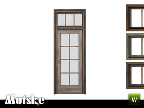 Sims 3 — Victorian Door with Glass Single 2x1 by Mutske — 4 recolorable parts. Made by Mutske@TSR. TSRAA.