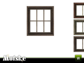 Sims 3 — Victorian Window Privat Single 2x1 by Mutske — 4 recolorable parts. Made by Mutske@TSR. TSRAA.