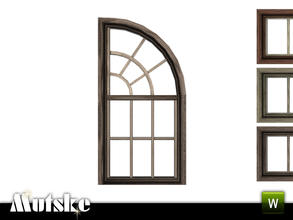 Sims 3 — Victorian Window two story half top right 1x1 by Mutske — 4 recolorable parts. Made by Mutske@TSR. TSRAA.