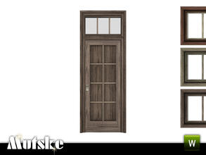 Sims 3 — Victorian Door 1x1 by Mutske — 4 recolorable parts. Made by Mutske@TSR. TSRAA.