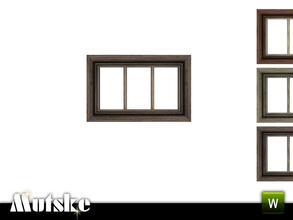 Sims 3 — Victorian Window SmallPrivat 1x1 by Mutske — 4 recolorable parts. Made by Mutske@TSR. TSRAA.
