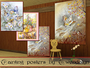 Sims 3 — GW_painting posters_fairy_part II by Gvendolin2 — Little kids are so fond of fairy tales. How to use these