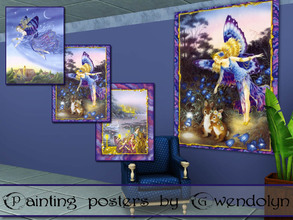 Sims 3 — GW_painting posters_fairy part III by Gvendolin2 — Little kids are so fond of fairy tales. How to use these