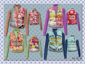 Sims 3 — tf top vest puffy_quilted_by GW_4 items by Gvendolin2 — Who said that clothes should be boring? Take these