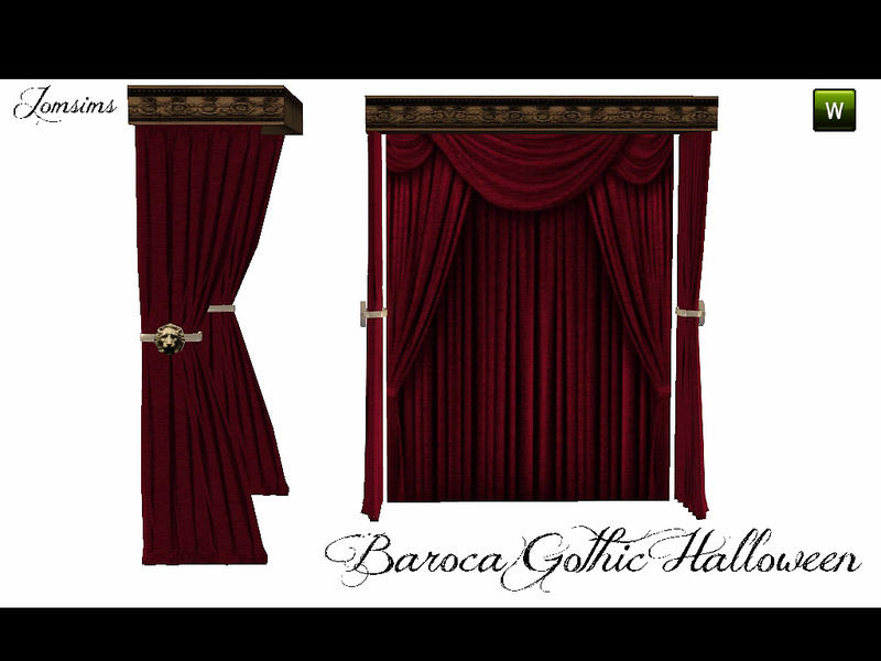 Jomsims Curtains For Bed Baroca Gothic