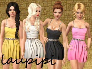 Sims 3 — Lentils Dress by laupipi2 — New recolorable dress with some lentils. I made this dress to my 200 followers gift!