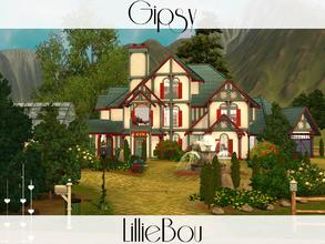 Sims 3 — Gypsy by lilliebou — This house is for a family of about 7 Sims. First floor: -Living room -Kitchen + Dining