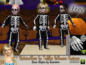 Sims 3 — Skeleton Gloves for Toddler Skeleton Costume~FREE by simromi — These gloves go with the Toddler Skeleton