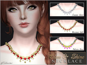 Sims 3 — Glam & Shine Necklace by Pralinesims — New glamorous necklace with shiny drops. You can find my other