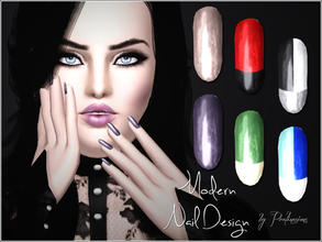 Sims 3 — Modern Nail Design by Pralinesims — New beautiful, realistic nails with modern design. In CAS it looks a little