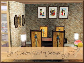 Sims 3 — Painting Set: The Pounders by drteekaycee — Beautiful African Art by SA. A depiction of African Women tending to