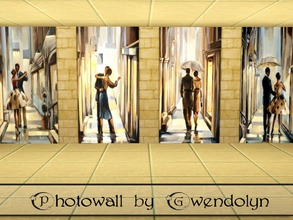 Sims 3 — GW_photowalls_Trish Biddle_4 items by Gvendolin2 — Modern and stylish photowalls are made based on paintings of