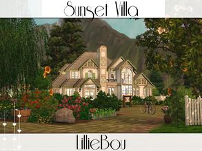 Sims 3 — Sunset Villa by lilliebou — This house is for a family of about 5 Sims. First floor: -Kitchen -Dining room