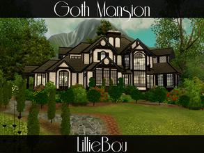 Sims 3 — Goth Mansion by lilliebou — This house was built especially for Daftalan and the Goth family from Sunset Valley.