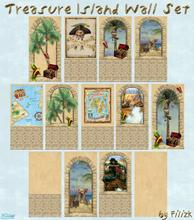 Sims 2 — Treasure Island Wall Set by filizk — Finally a wallpaper set for the boys. You can mix and match them to create