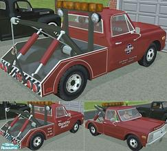 1970 S Tow Truck Red