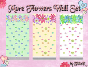 Sims 2 — More Flowers Wall Set by filizk — Here I present more flowers for the girly girls, who need more color in their