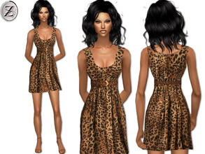Sims 2 — 2012 Fashion Collection Part 44 by zodapop — Flirty cheetah print dress with braided brown faux leather belt.