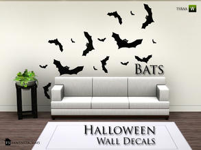 halloween wall decal bats fs