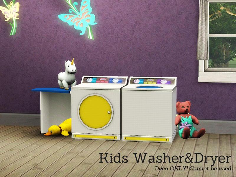 angela 39 s kids deco washer and dryer. Black Bedroom Furniture Sets. Home Design Ideas
